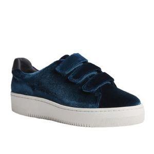 NEW Sandro Anita Velvet Strap Sneakers